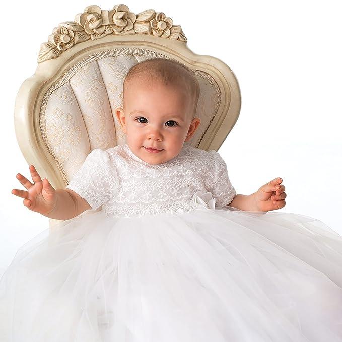 ShineGown - Ropa de Bautizo - Trapecio o Corte en A - para bebé Niña   Amazon.es  Ropa y accesorios 23c1ba8e4793
