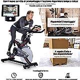 Sportstech SX400 Cyclette Professionale Ergometro Controllo per Applicazione Smartphone, Peso di inerzia 22 kg, Supporto per Braccia, Cardiofrequenzimetro Compatibile, silenziosa, 150 kg Max