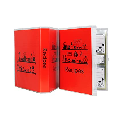 Amazon com: Compact sized Recipe Binder with 5 x 7 clear plastic