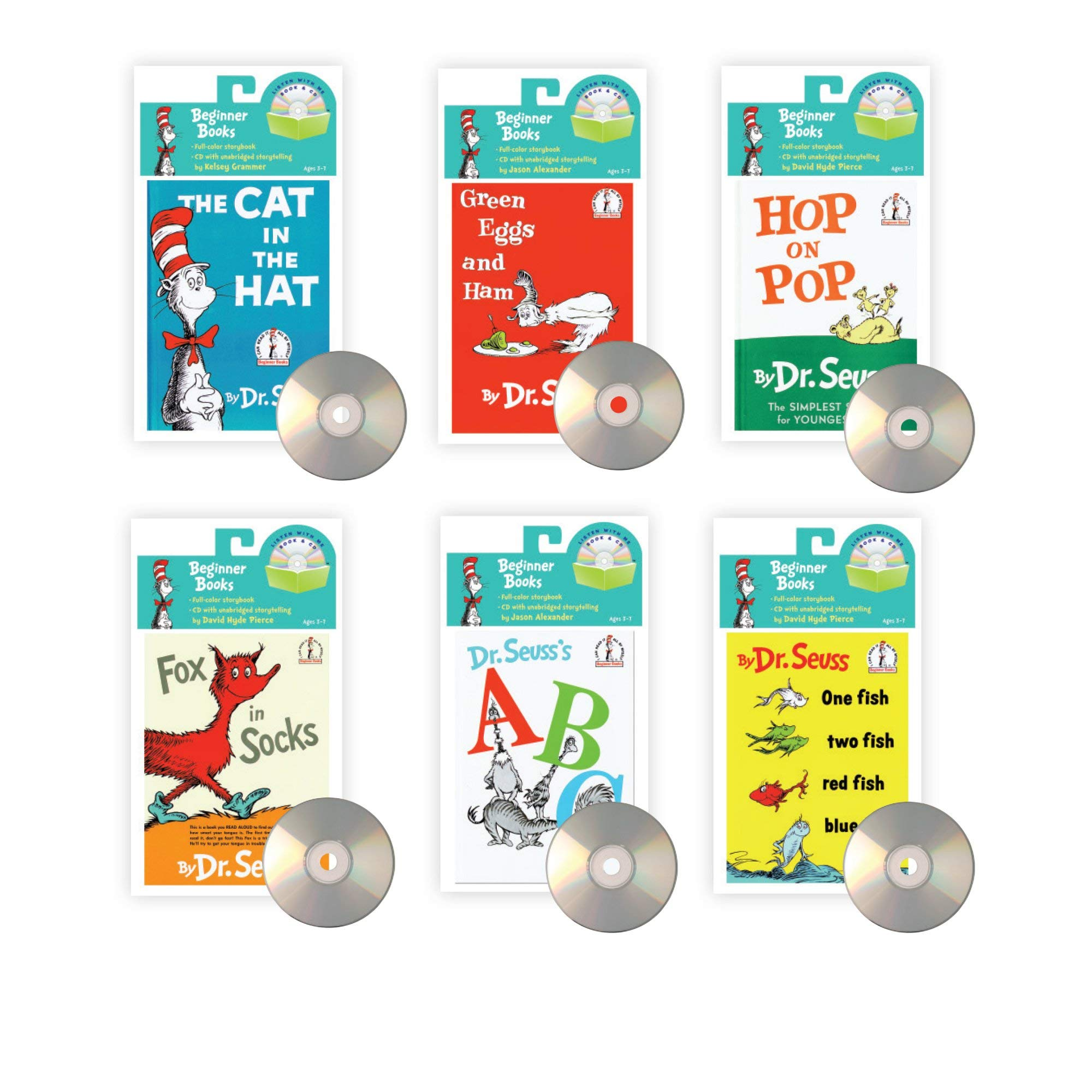 Read Along with Dr. Seuss Books with CD's