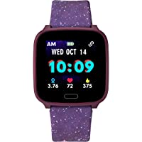 Timex Girl's iConnect Kids Active Quartz Smart Watch Purple Galaxy Digital Display,TW5M40800