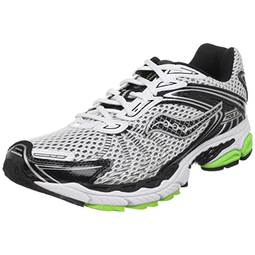 Saucony Progrid Ride 3 - Zapatillas de Running para Hombre, Multi (White/Black/Slime Green), 12 D(M) US: Amazon.es: Zapatos y complementos