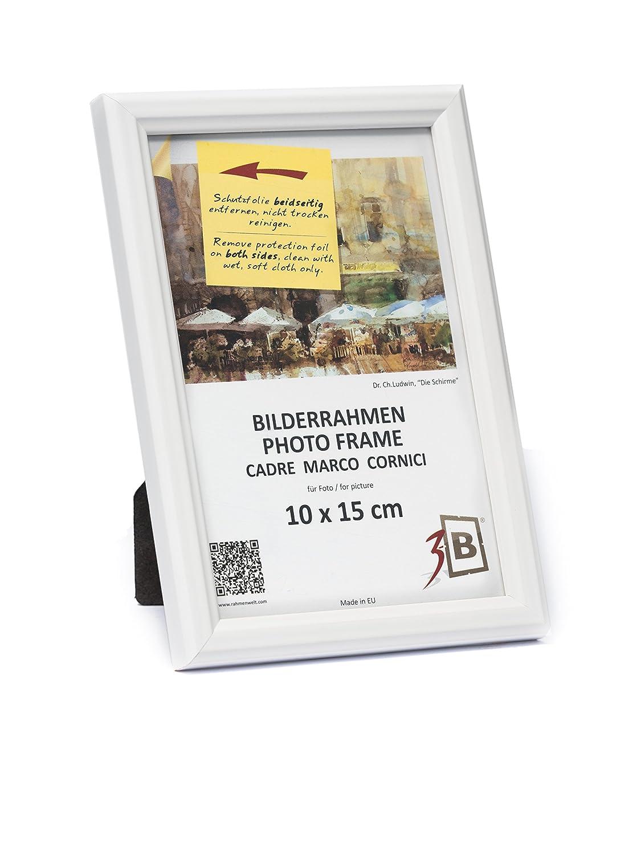 3-B Set 10 Stk. - Bilderrahmen JENA - weiß - 10x15 cm - Holzrahmen ...