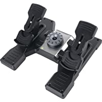 Logitech Flight Rudder Pedals, color Negro