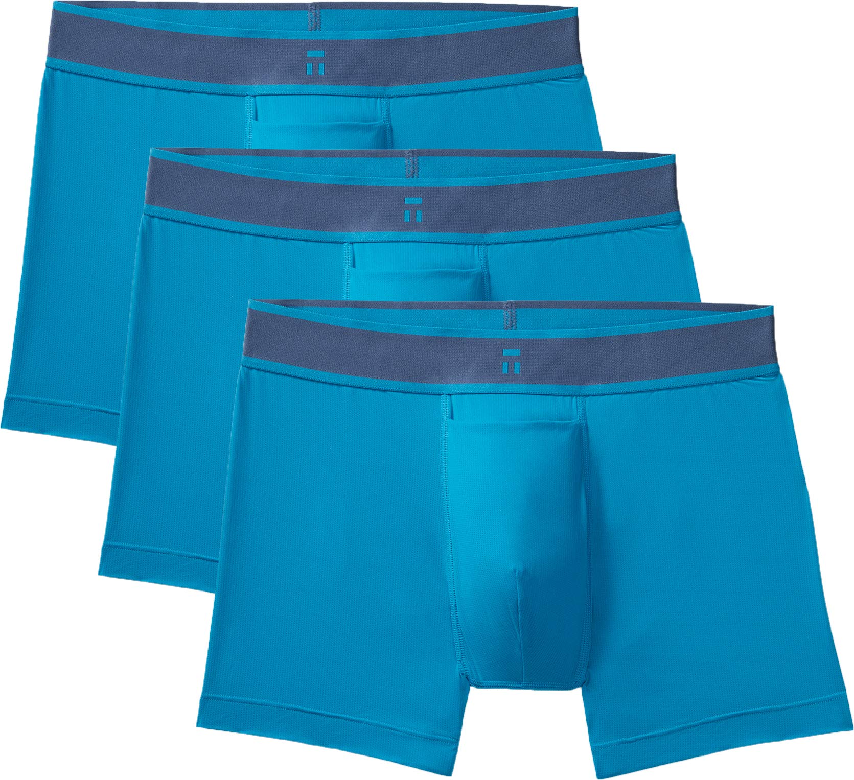 Tommy John Men's Air Icon Trunks - 3 Pack - Comfortable Breathable Soft Underwear for Men (Mosaic Blue, Large) by Tommy John