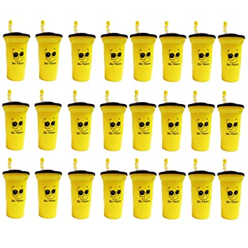 Buy Kieana Bottle Sippers With Straw For Kids Birthday Return Gifts Pack Of 24 Yellow Online At Low Prices In India