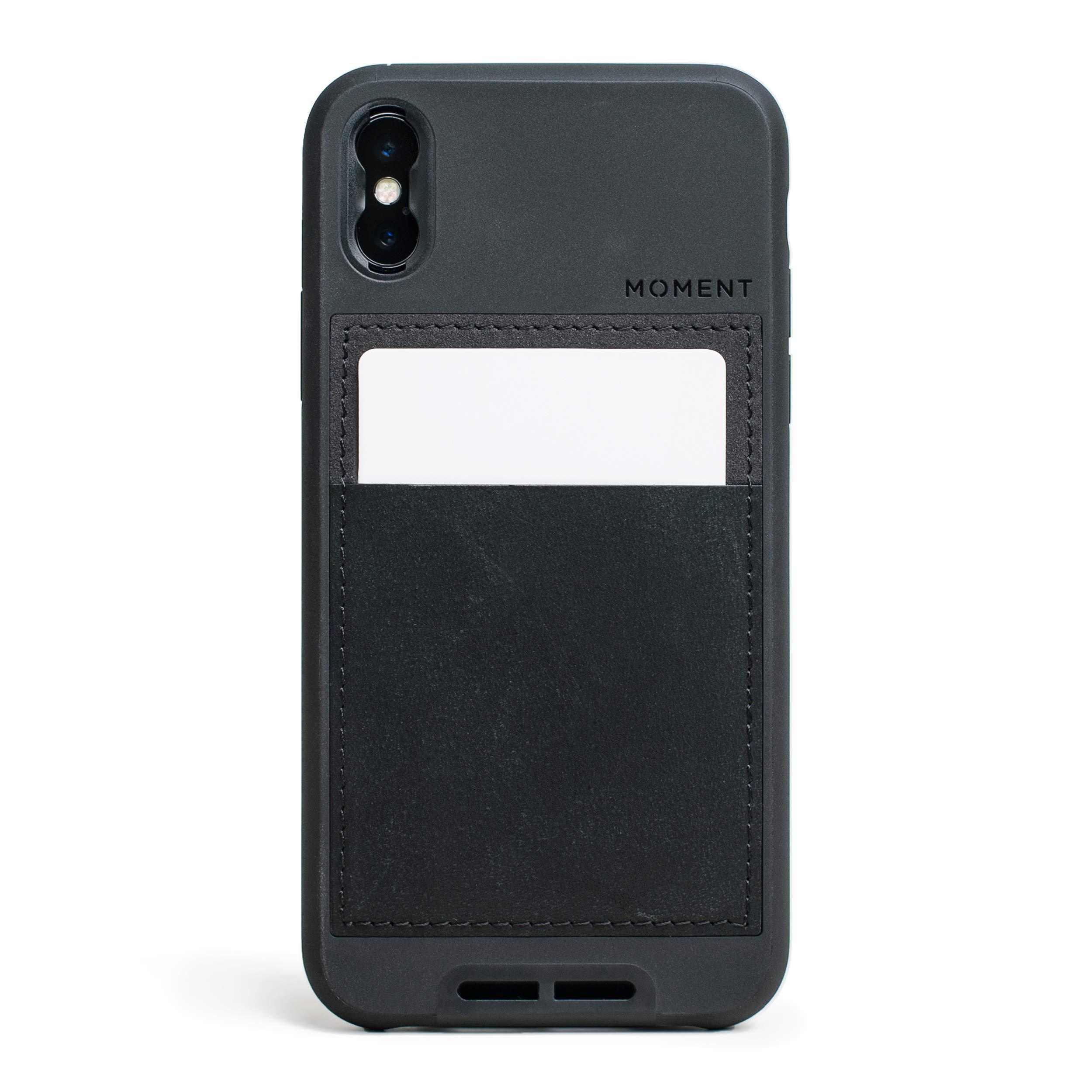 ویکالا · خرید  اصل اورجینال · خرید از آمازون · iPhone X Wallet Case || Moment Photo Case in Black Leather - Thin, Protective, Wrist Strap Friendly Wallet case for Camera Lovers. wekala · ویکالا