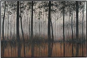 Ashley Furniture Signature Design - Philyra Woods Wall Art - Contemporary - Black/Orange/Silver