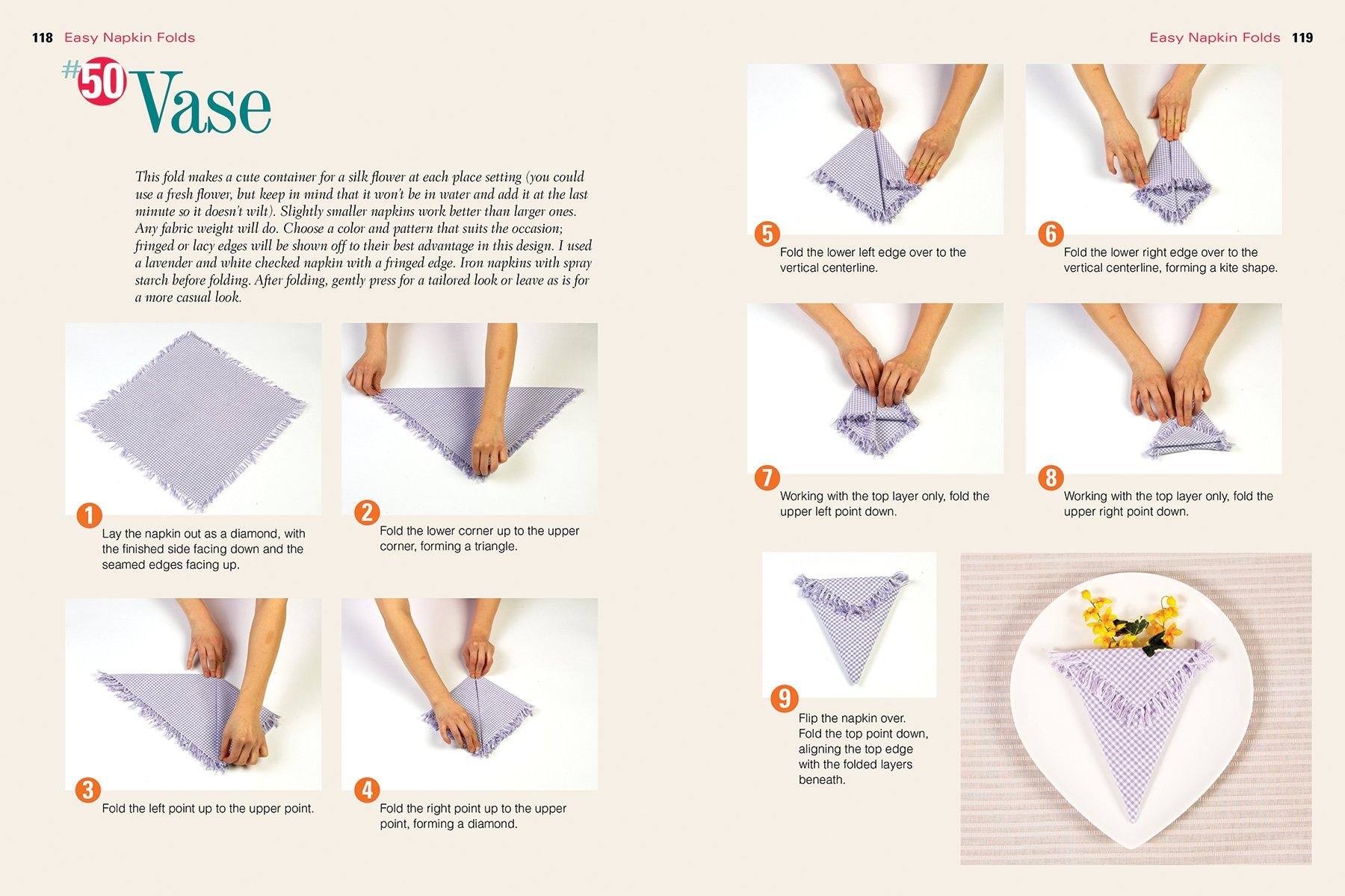 Top 100 Step By Step Napkin Folds More Than 1 000 Photographs