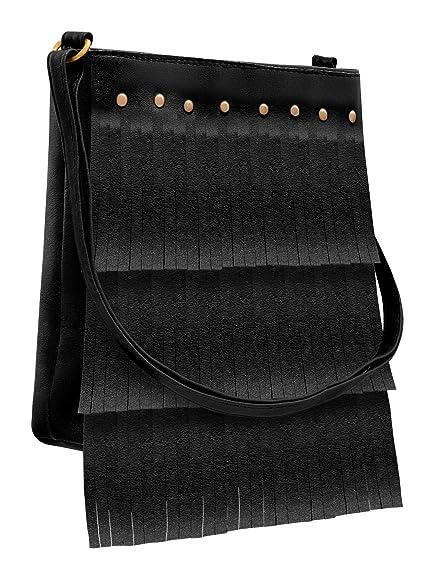 TAP FASHION Fancy Stylish Elegant Women s Sling Cross Body Bag (Black  ac0426bc0f89b