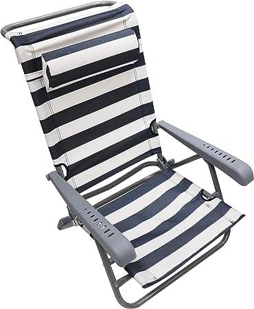 Homecall Bleu//blanc Chaise de camping