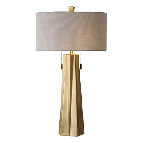 Contemporary Round Table Lamp in Gold