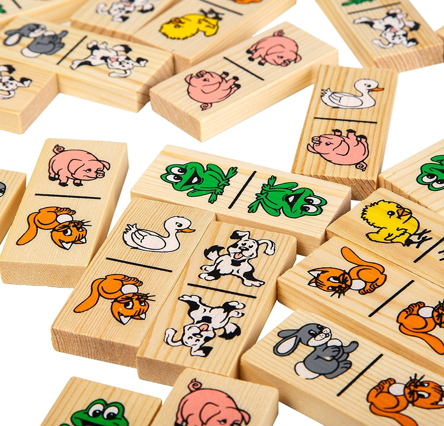 【超歓迎された】 ドミノfor Kids – Funny Funny Animals B072FRFDXZ – Wooden Fancy – Dominoes B072FRFDXZ, ソシエ e-Shop:a10b575b --- efichas.com.br