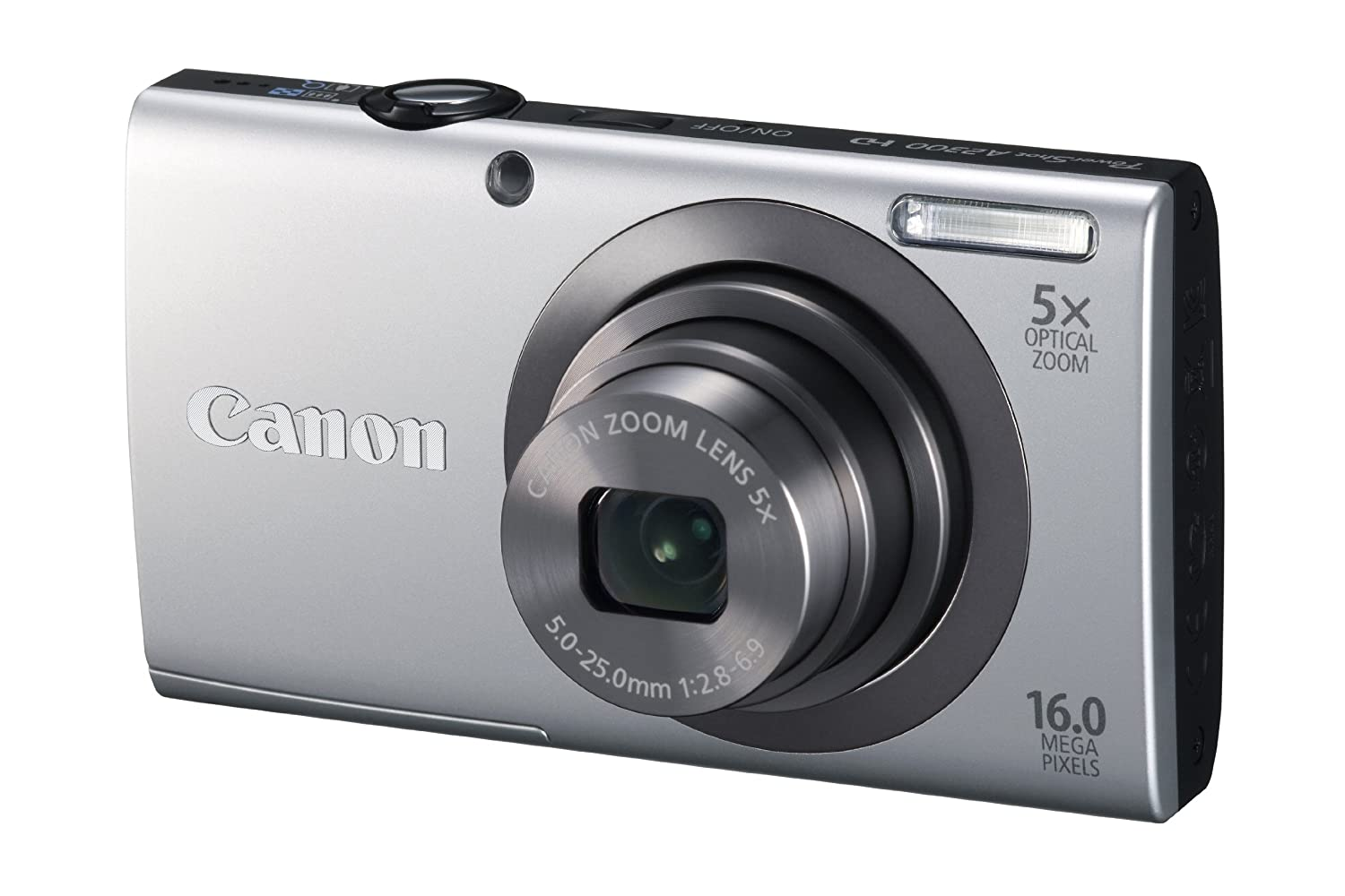 592a738ee Amazon.com : Canon PowerShot A2300 16.0 MP Digital Camera with 5x Optical  Zoom (Silver) : Point And Shoot Digital Cameras : Camera & Photo