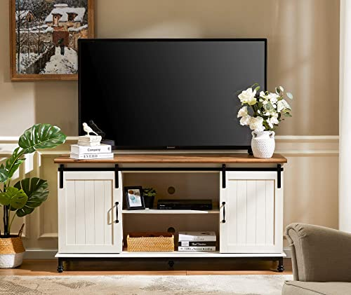 Cheap WAMPAT Farmhouse Sliding Barn Door TV Stands modern tv stand for sale