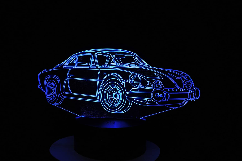 Lampe 3D Motif: Voiture Alpine A110