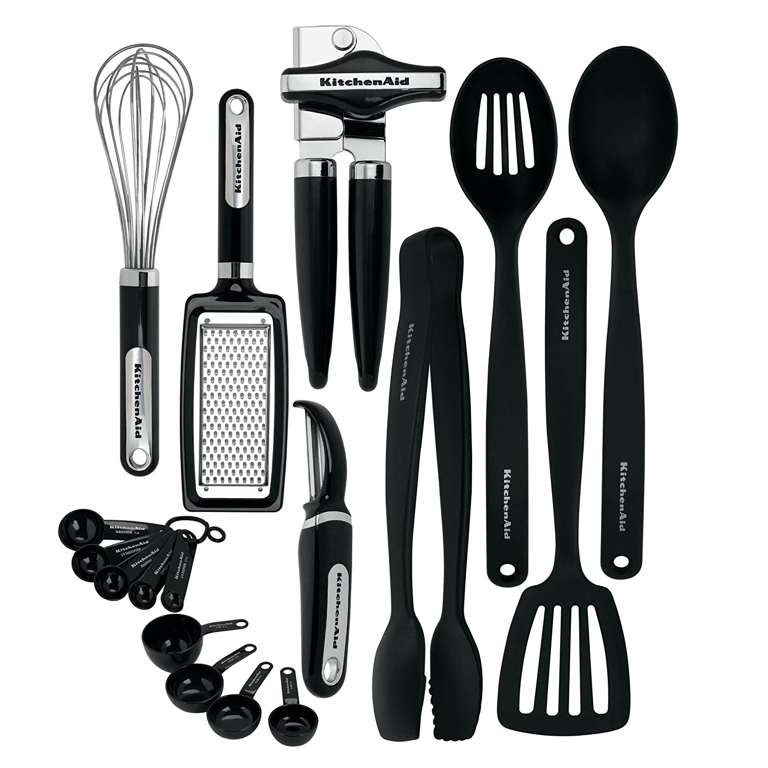 Amazon.com: KitchenAid 17-Piece Tools and Gadget Set, Black ...