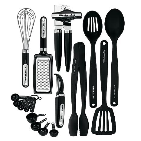 KitchenAid KC448BXOBA 17 Piece Tools And Gadget Set, Black