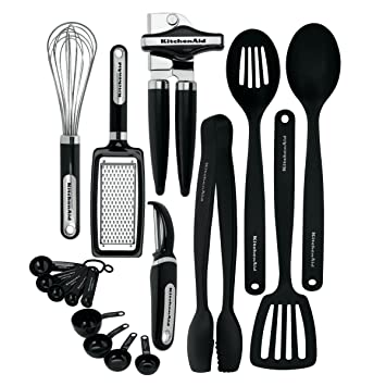 Perfect KitchenAid 17 Piece Tools And Gadget Set, Black