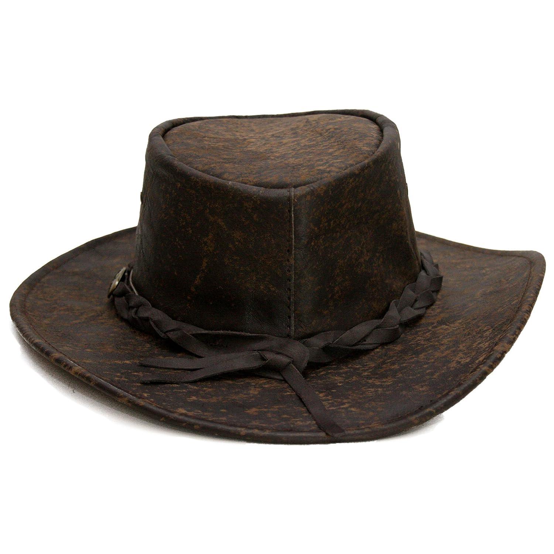 42ff231906890 Sombrero de Piel Explorer by Jacaru sombrero de hombresombrero de piel   Amazon.es  Ropa y accesorios