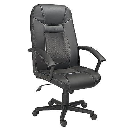 Sillón giratorio de escritorio para despacho modelo DREAM color negro – Sedutahome