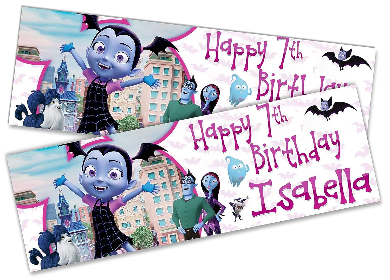 2 pancartas de cumpleaños personalizadas para niños Large ...