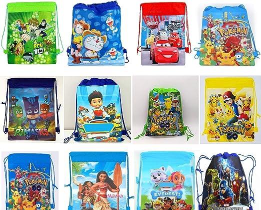 ANG Cartoon Printed Dori Bag for Kids Favor / Haversack Bag | Birthday Party Return Gift for Boys/Girls(Color-Miulti) (Boys, 12)