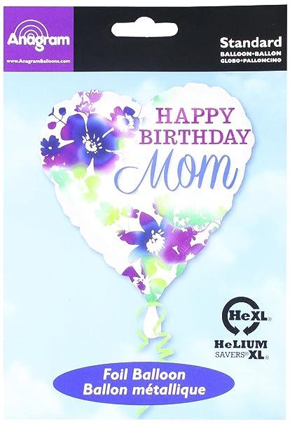 amazon com burton burton happy birthday mom foil mylar balloon
