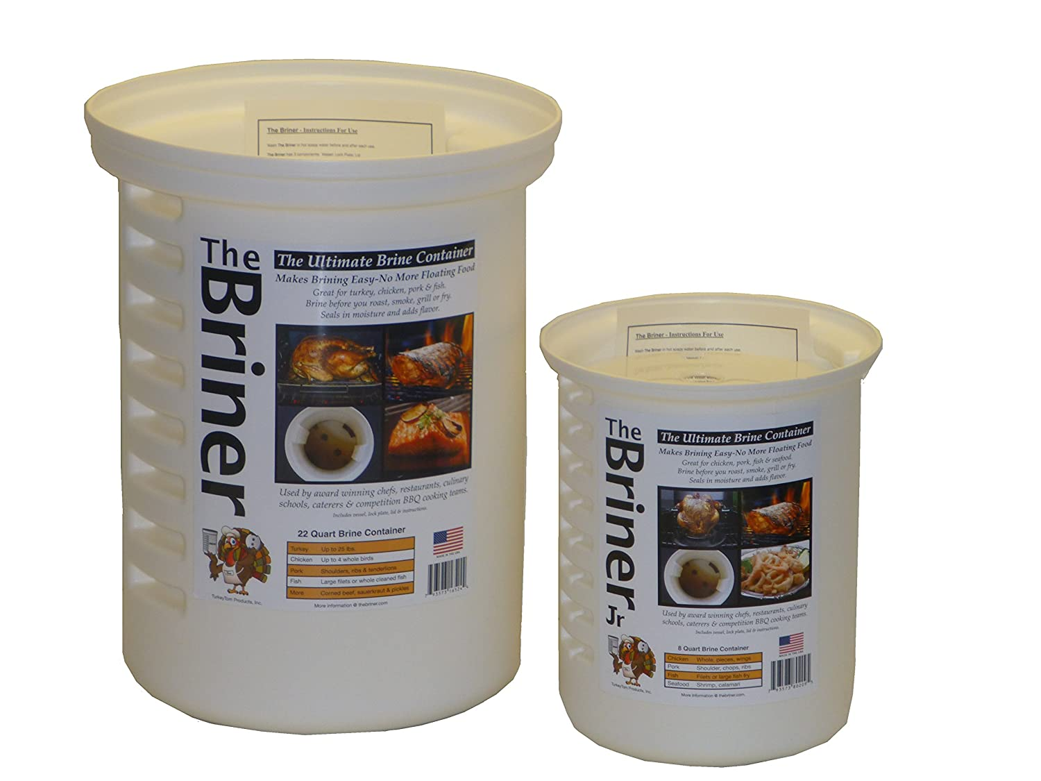 The Briner - The Ultimate Brine Container (2, 22 qt / 8 qt)