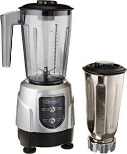 Omega Juicer Omega BL390S 1-HP Blender, Tritan Copolyester and Stainless Steel Container Combo Pack, Silver, 48-Ounce