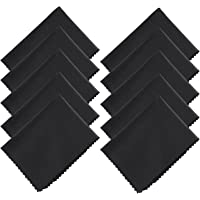 Hibery Microfiber Cleaning Cloth - Camera Lens Cleaning Cloth Micro Cloths for Glasses, Cell Phone, Tablet, Screens, 20 Pack, Black