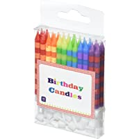 Talking Tables HB Birthday Bash Striped Candles, Multicolor