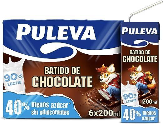 Puleva Batido de Chocolate - Pack de 6 x 200 ml - Total: 1200 ml ...
