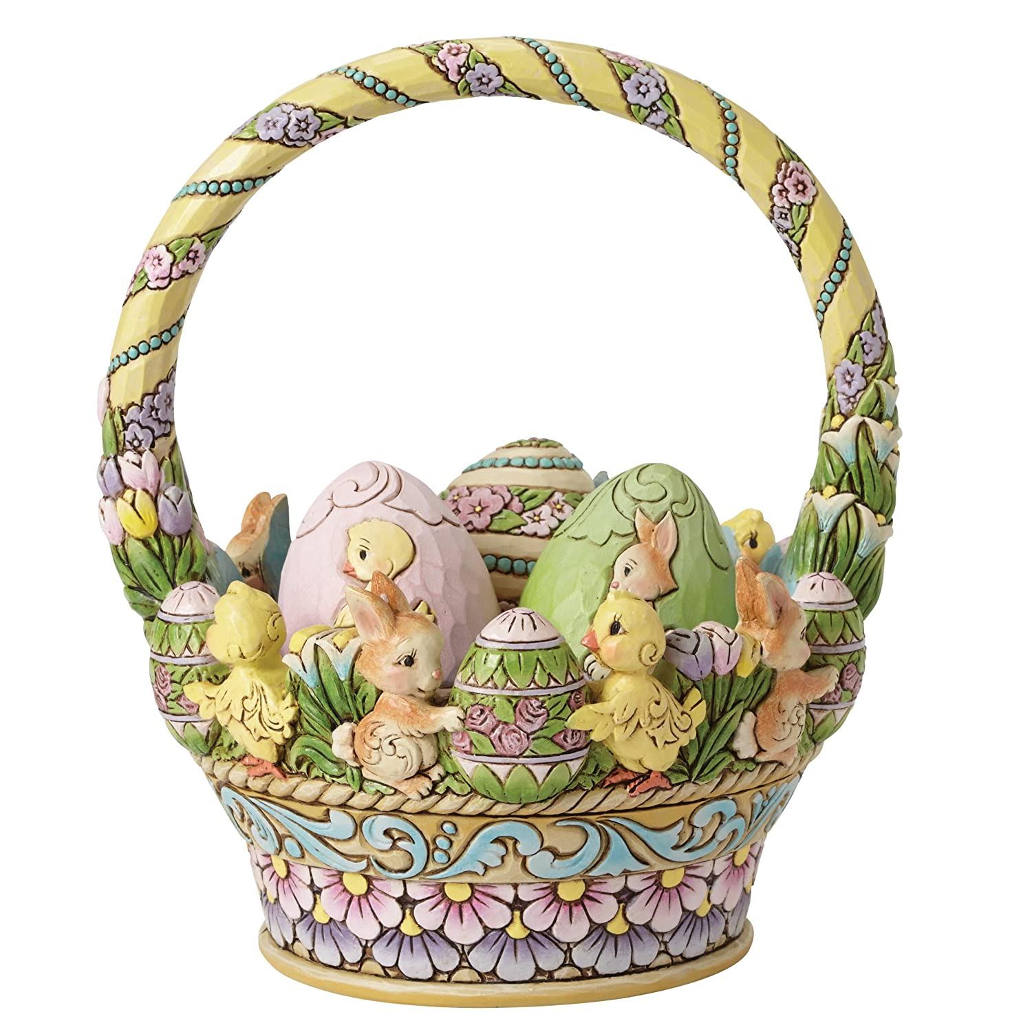 Charming spring and easter figurines enesco jim shore easter basket w3 eggs 12th annual negle Image collections