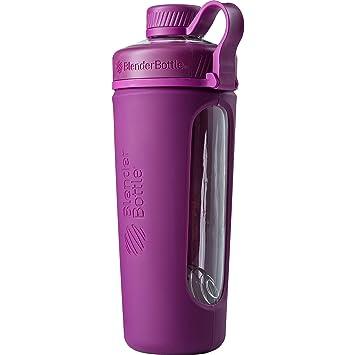 BlenderBottle Radian Botella de agua | Botella mezcladora de batidos de proteínas | con batidor Blenderball