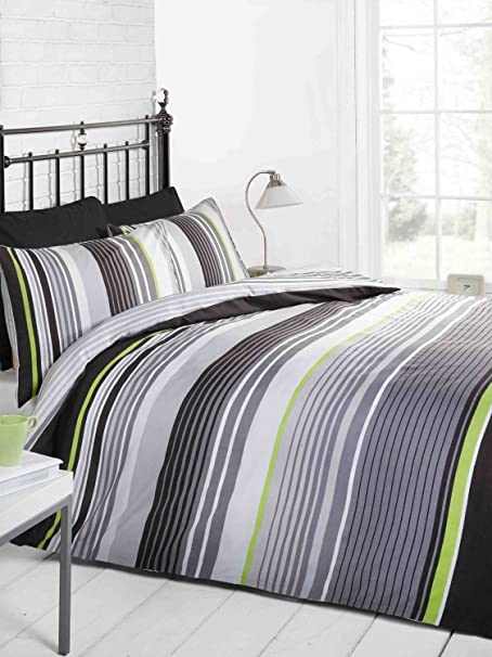 white and stripes striped cover covers grey pin set duvet