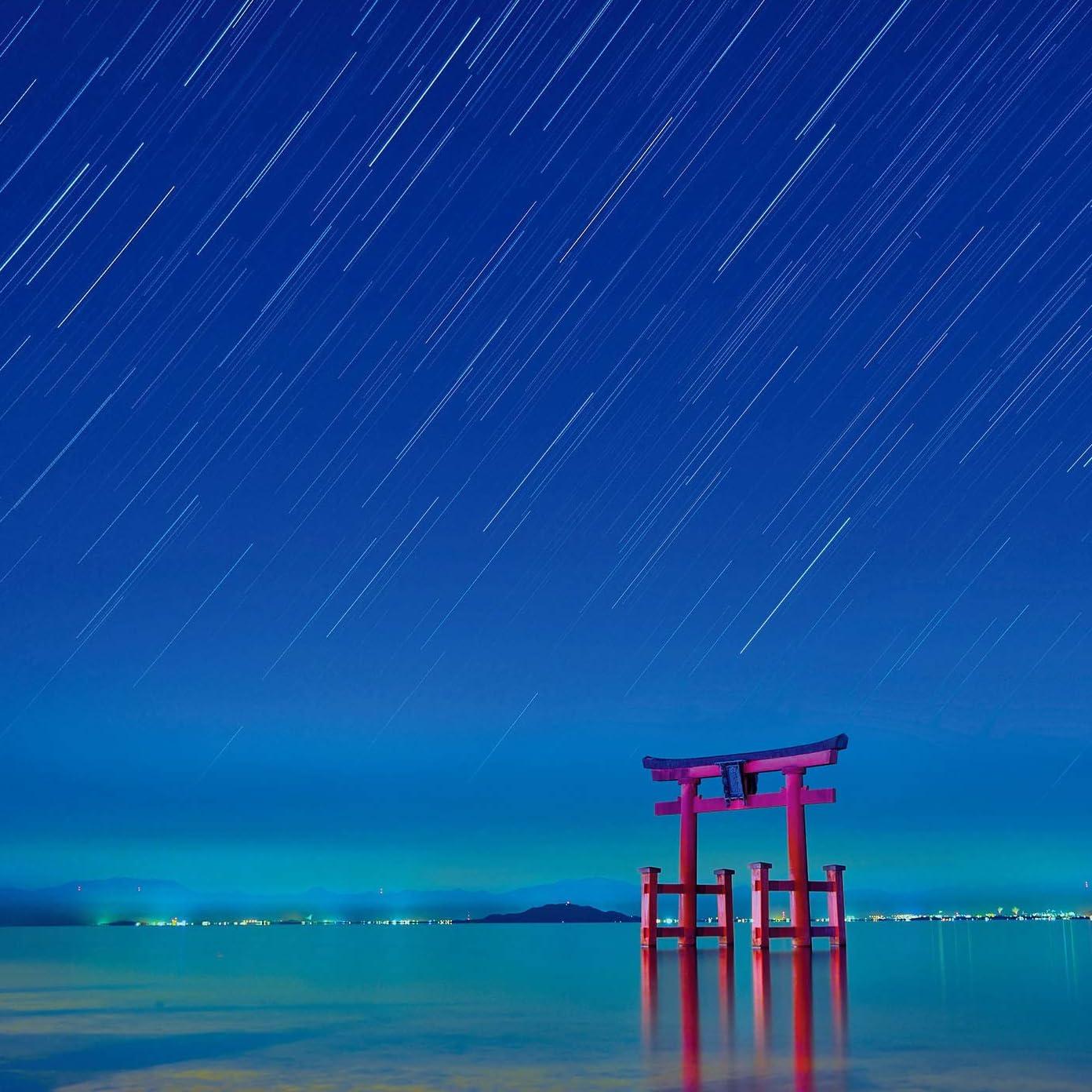 星空 Ipad壁紙 琵琶湖に降り注ぐスタートレイル その他 スマホ用画像117583