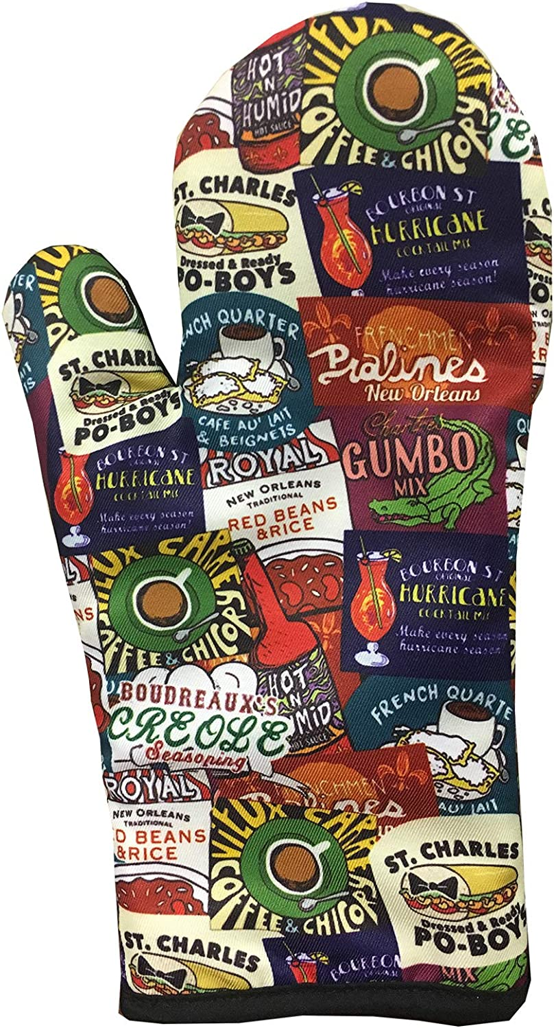 Artisan Owl New Orleans Iconic Food Logos Design Oven Mitt