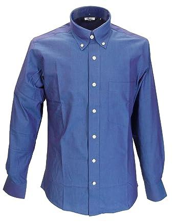 a3ea91cf3488a5 Relco Men s Long Sleeved Blue Purple Tonic Mod Retro Shirt (XXLarge Collar  Size 18