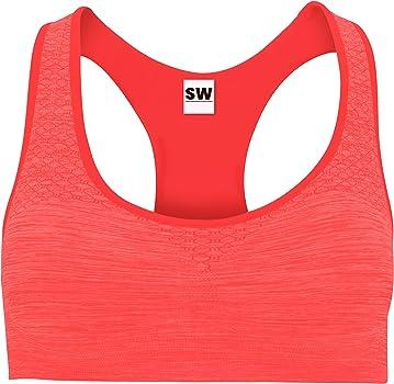 ShyaWorld Sujetador Deportivo Mujer. Suave, con Refuerzo y sin ...