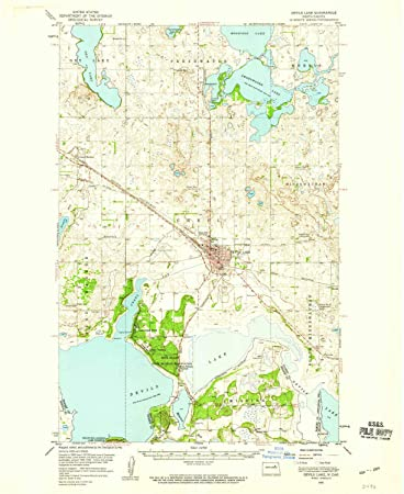 Amazon.com : YellowMaps Devils Lake ND topo map, 1:62500 Scale, 15 on