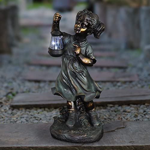 Exhart Solar Garden Girl Statue