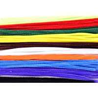 "Ziggle50 Pcs Multicolored 12"" Normal Stem Craft Pipe Cleaners"