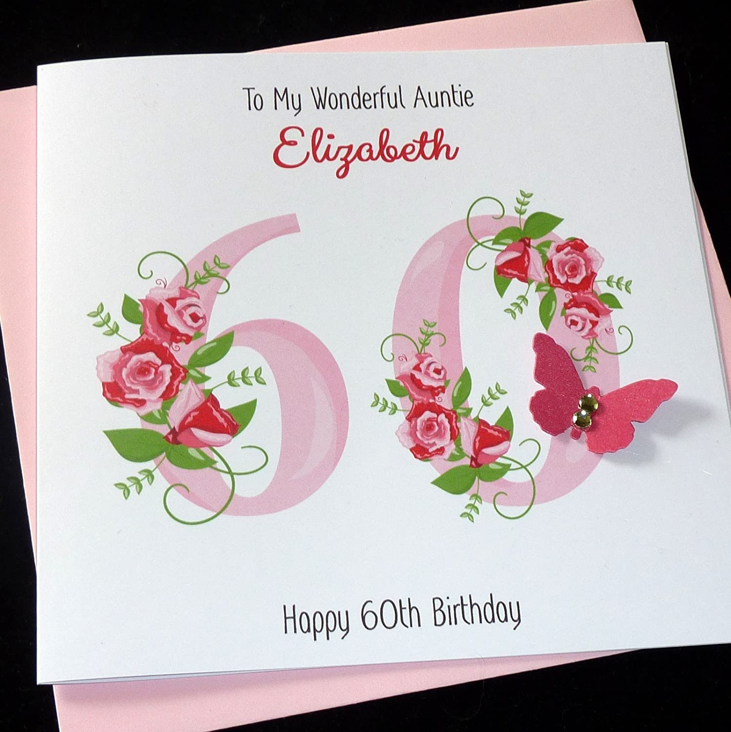 Awe Inspiring Handmade Personalised Pink Floral Birthday Card 30Th 40Th 50Th Funny Birthday Cards Online Fluifree Goldxyz
