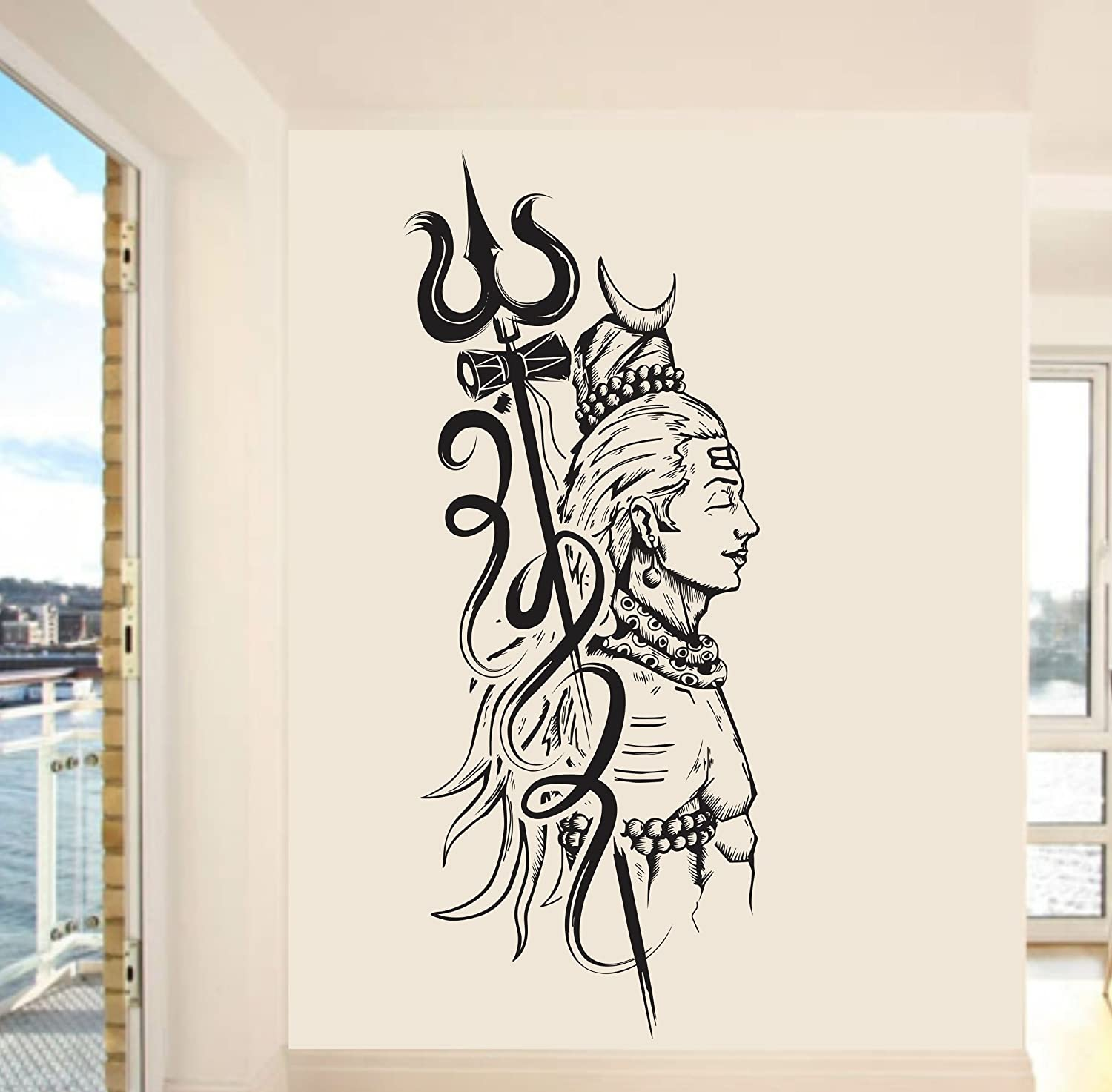Buy happy walls lord shiva wall sticker for home wall art wall mural pvc vinyl online at low prices in india amazon in