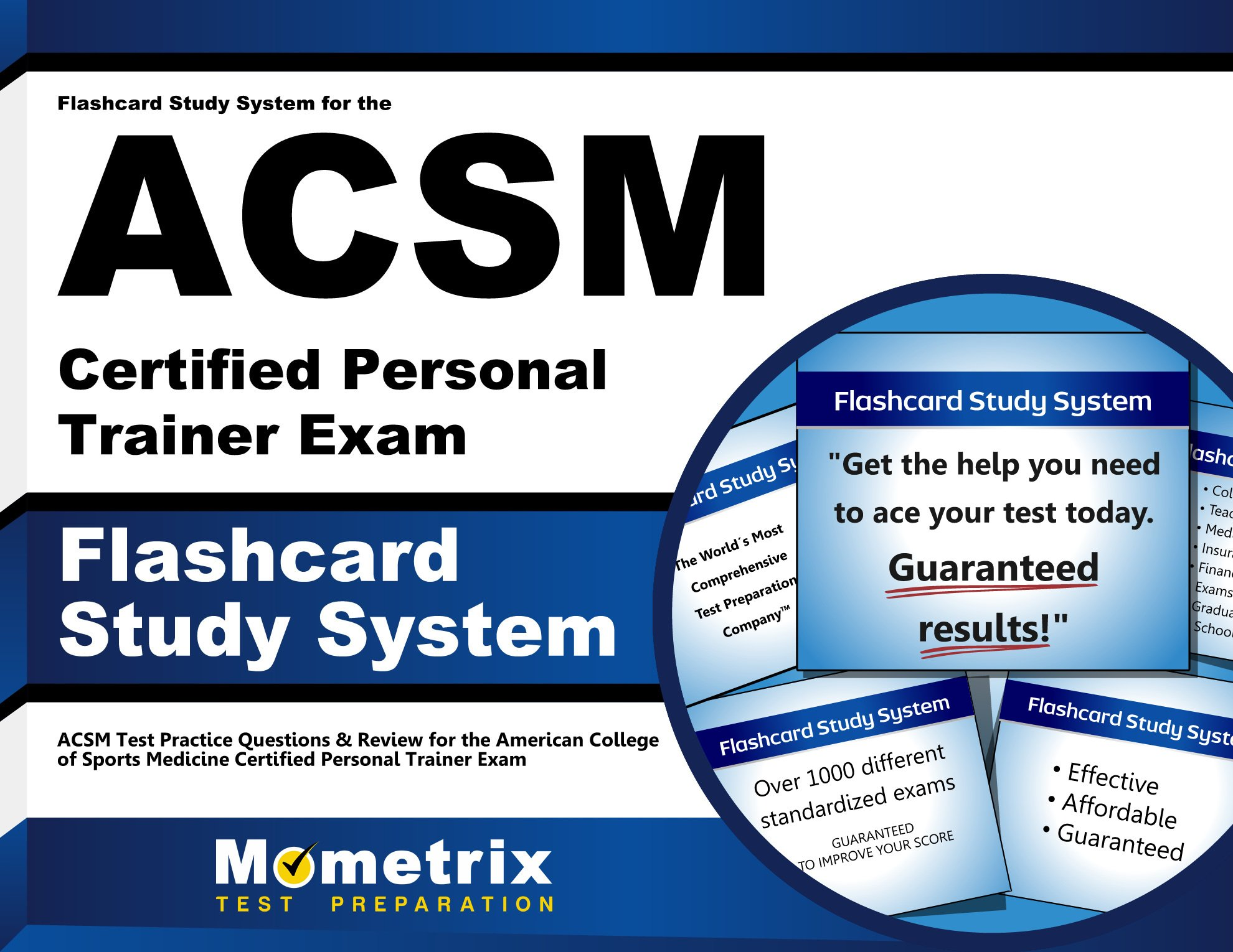 Amazon Buy Flashcard Study System For The Acsm Certified