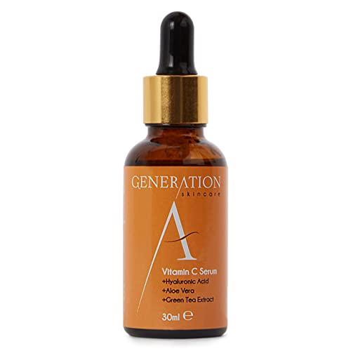 Generation A Vitamin C Serum - Skin Hydrating Booster For Oily, Dry Or Sensitive Skin - Anti-Aging Skincare - Removes Acne Scars, Wrinkles & Fine Lines