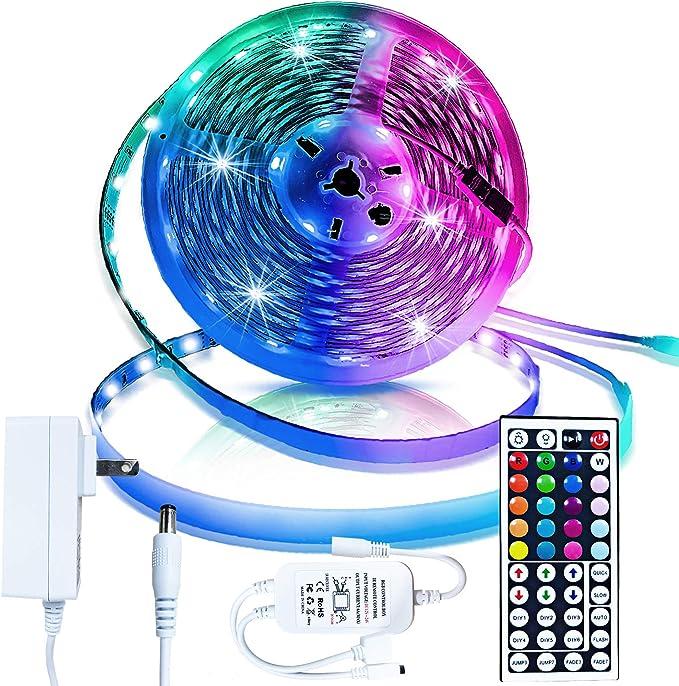 12V LED Light Strip 5M//10M//15M 16.4ft//32.8ft//49.2ft 5050 RGB LED Tape Lights RGB