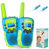 Best Birthday Gift Kids Toys for 3 4 5 6 7 8 9-12 Year Old Boys Girls Toddlers, Kids Walkie Talkies, Toys for Indoor Outdoor Games, Long Range 3KM 22 Channels 2 Way Radio with Flashlight, 2 Pack