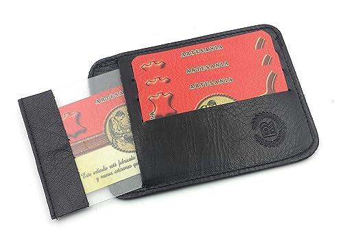 FJR-ArtPiel - Porta-tarjetas Piel Ubrique - Negro: Amazon.es ...